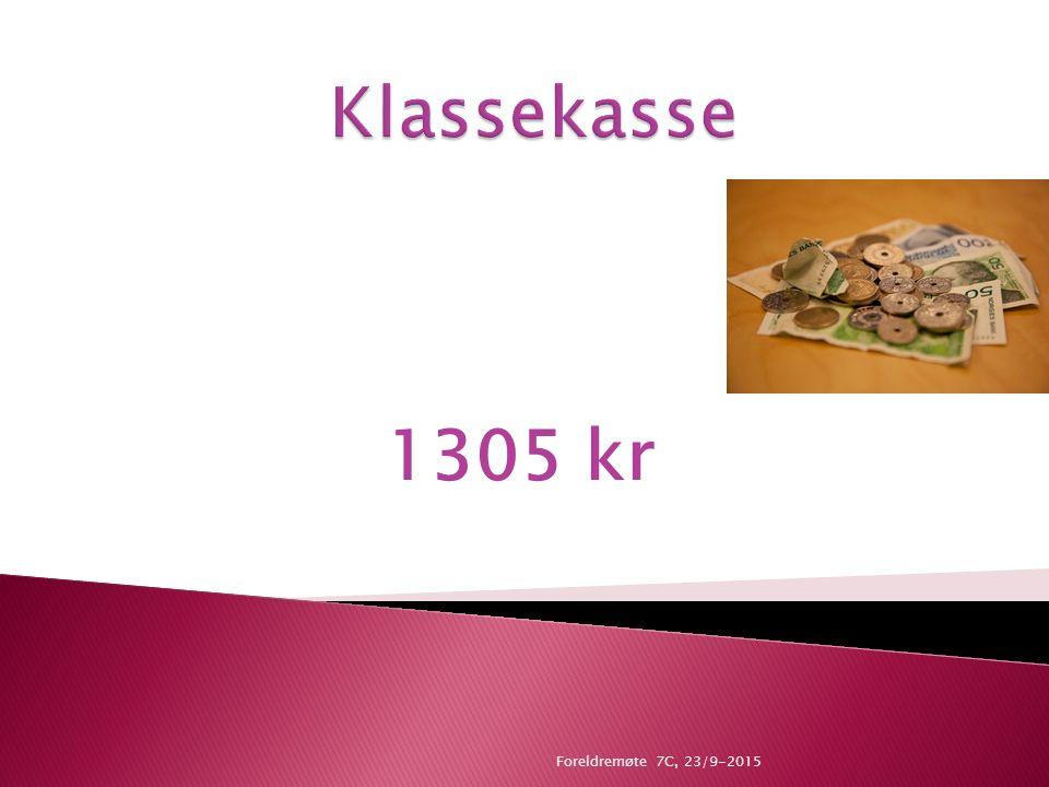 1305 kr Foreldremøte 7C, 23/9-2015