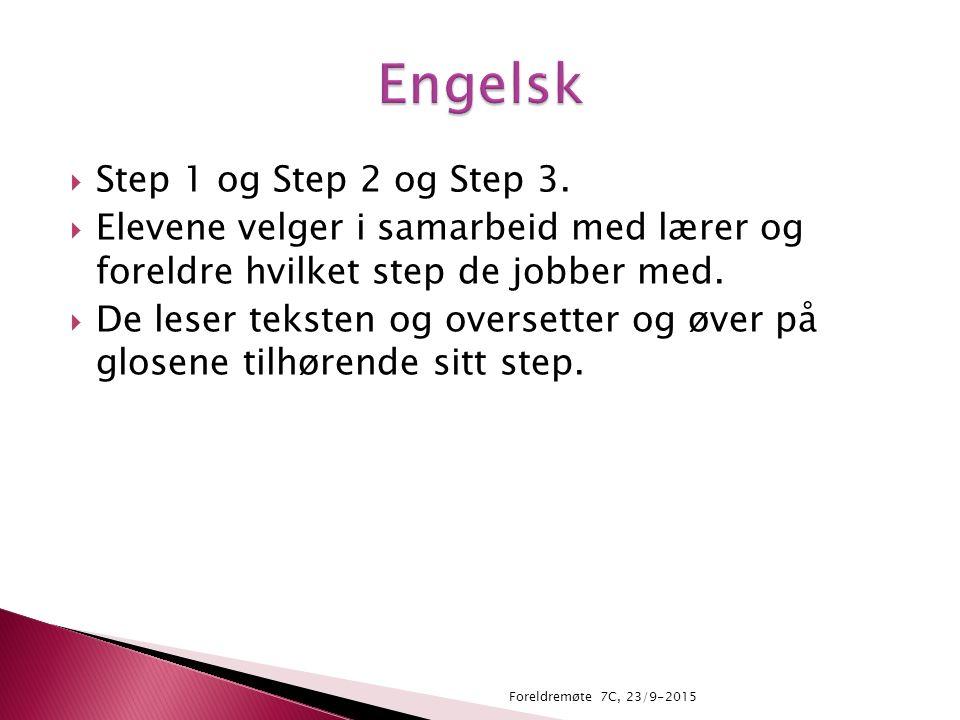  Step 1 og Step 2 og Step 3.