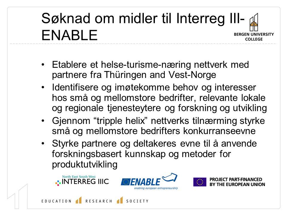 Partnere i Tourheal prosjektet Thüringen: Erfurter Gastro Berufsbildungswerk e.V Thüringen Hotel- und Gaststättenverband (Thühoga) Thüringer Turismus GmbH Industrie- und Handelskammer Erfurt (IHK)