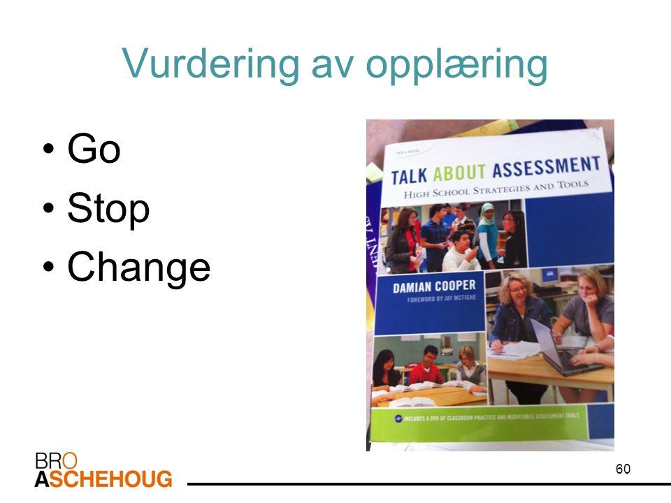 Vurdering av opplæring Go Stop Change 60