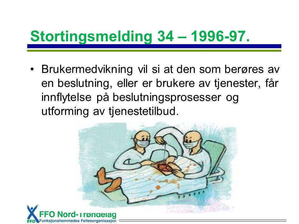 Stortingsmelding 34 – 1996-97.
