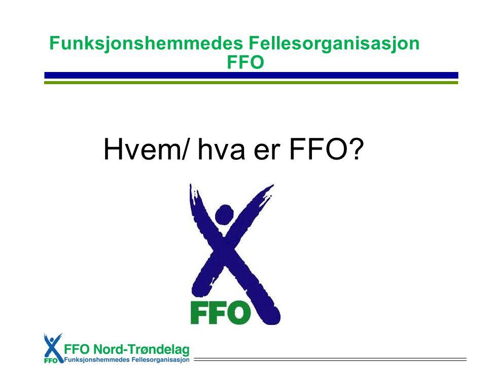 Funksjonshemmedes Fellesorganisasjon FFO Hvem/ hva er FFO?