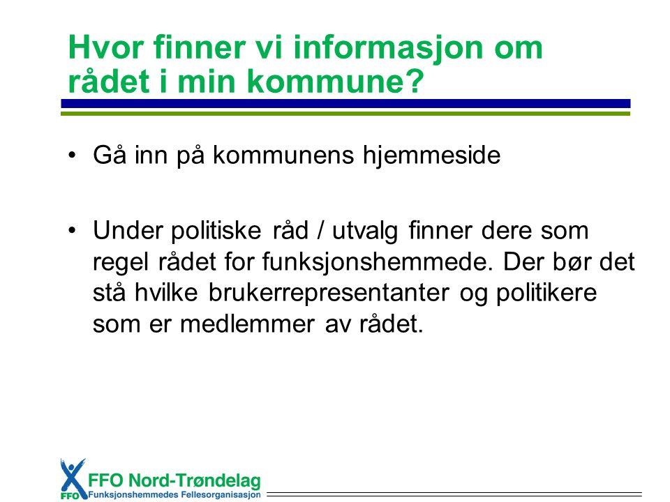 Hvor finner vi informasjon om rådet i min kommune.