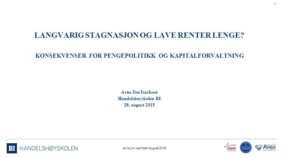 LANGVARIG STAGNASJON OG LAVE RENTER LENGE.