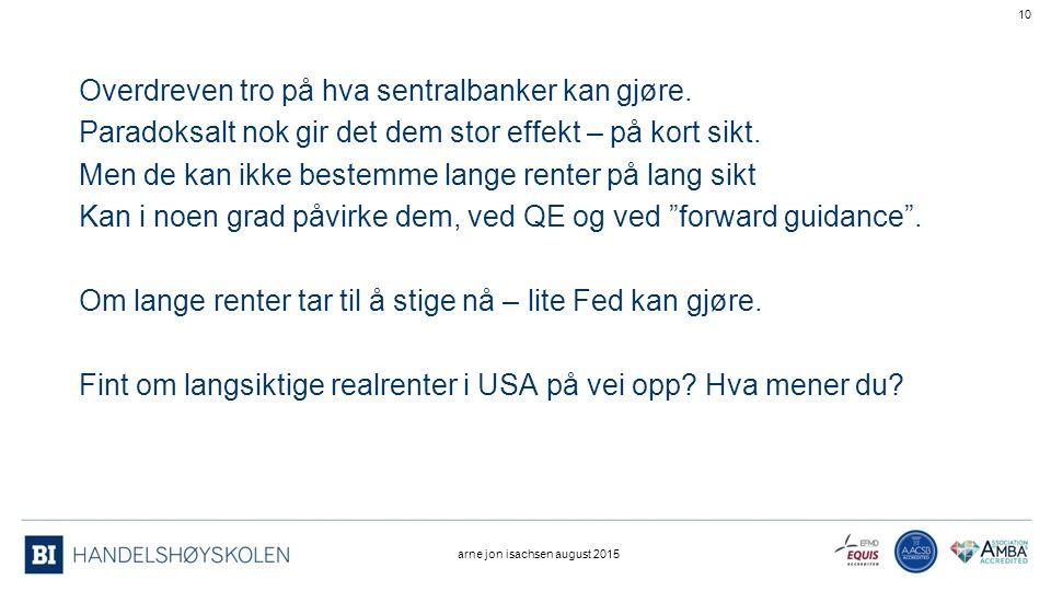 Overdreven tro på hva sentralbanker kan gjøre.