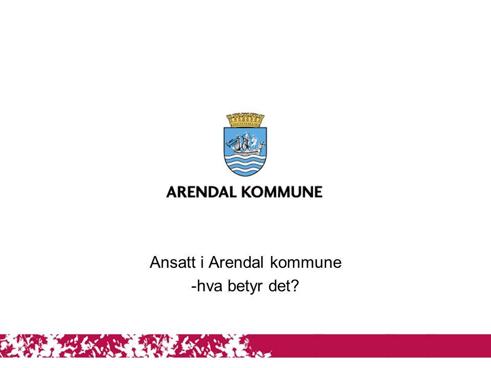 1 Ansatt i Arendal kommune -hva betyr det?