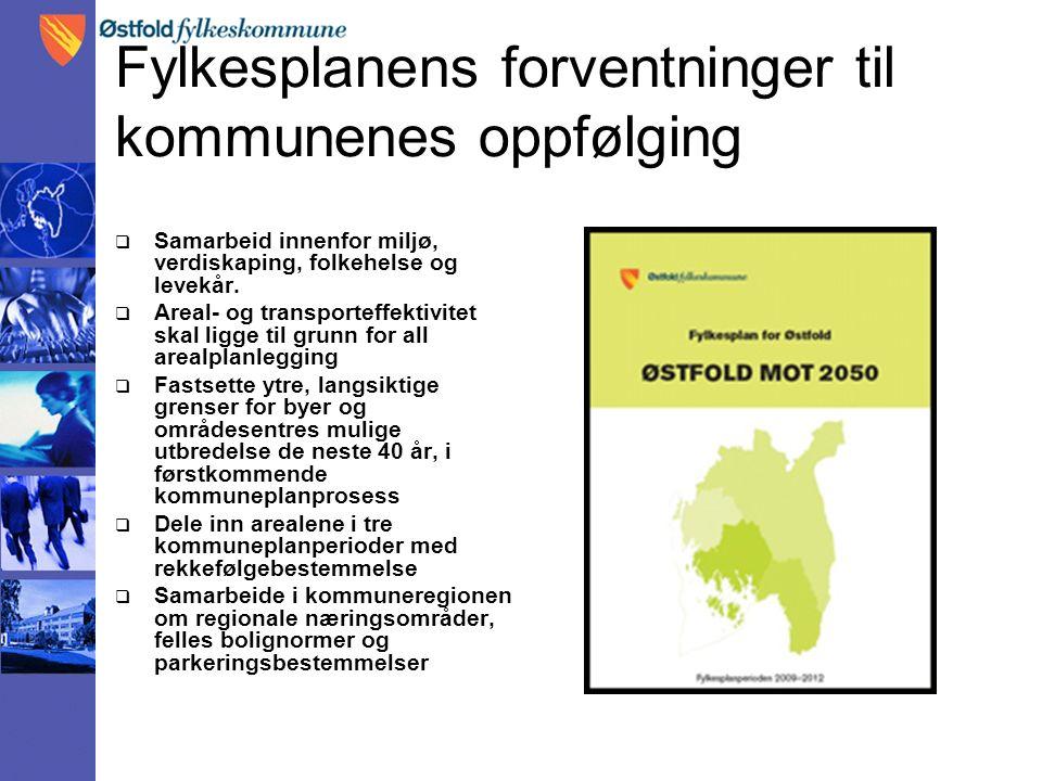 Veien videre  Status innenfor langsiktig grense: arealplaner fremtidig areal pr kommune.