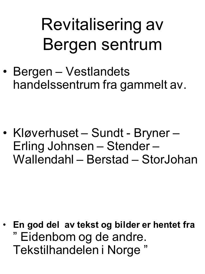 Januar 1977 Første uttalelse fra sentrumsforeningen om et offentlig dokument Kommuneplan for Bergen 1977-1985.