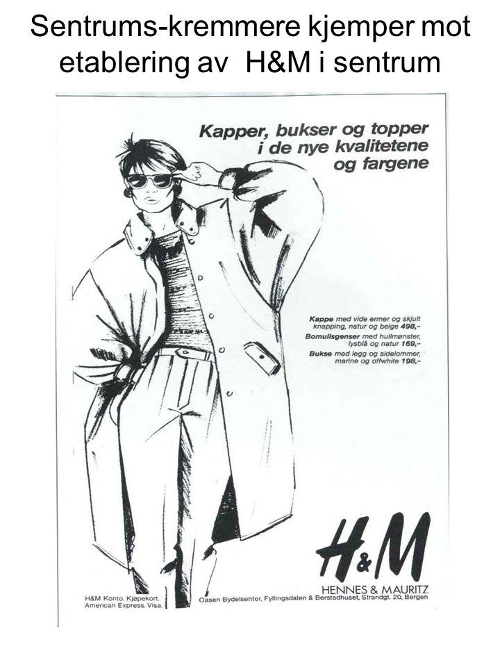 Sentrums-kremmere kjemper mot etablering av H&M i sentrum