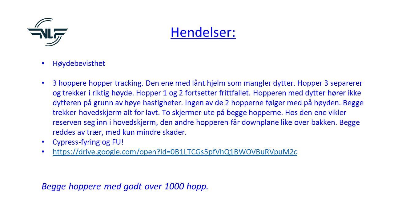 Hendelser: Høydebevisthet 3 hoppere hopper tracking.
