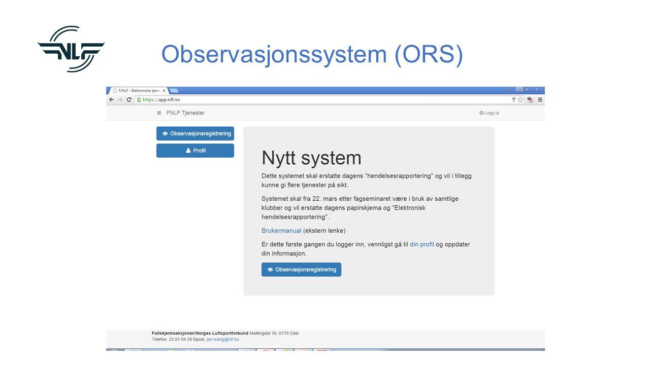 Observasjonssystem (ORS)