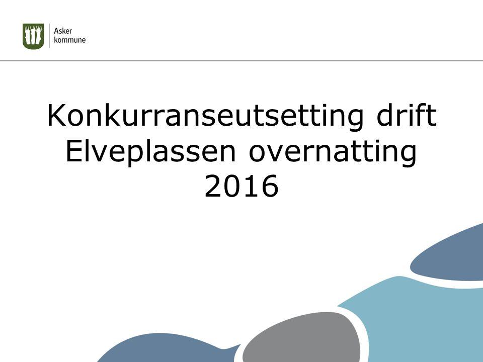 Konkurranseutsetting drift Elveplassen overnatting 2016