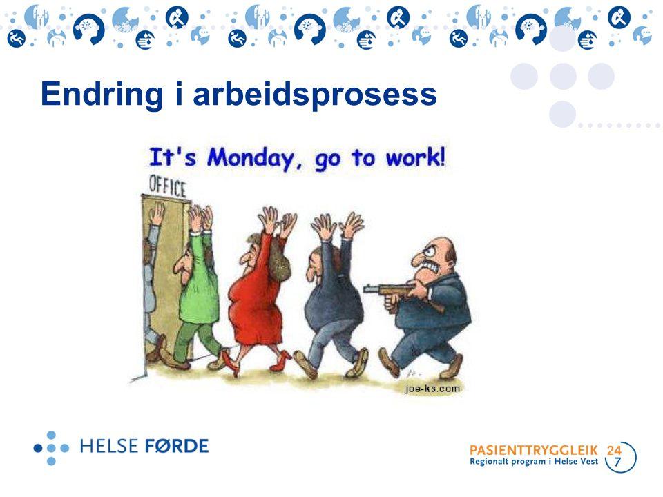 Endring i arbeidsprosess