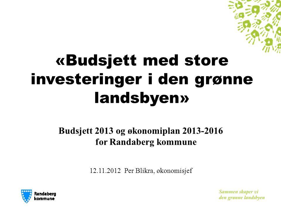 Investeringar gir press på drifta Sum investeringar i rådmannen sitt forslag inneber eit auka inntektsbehov på 20 mill.