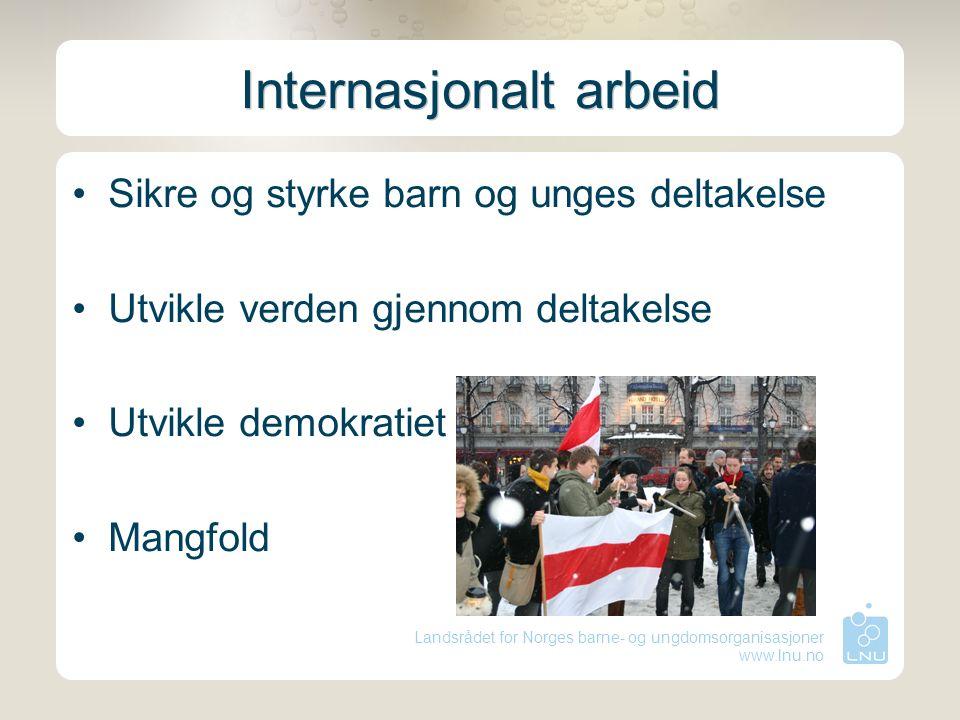 Landsrådet for Norges barne- og ungdomsorganisasjoner www.lnu.no Interessepolitikk Lobbykurs for ledere Lobbykurs for alle Internasjonalt lobbykurs