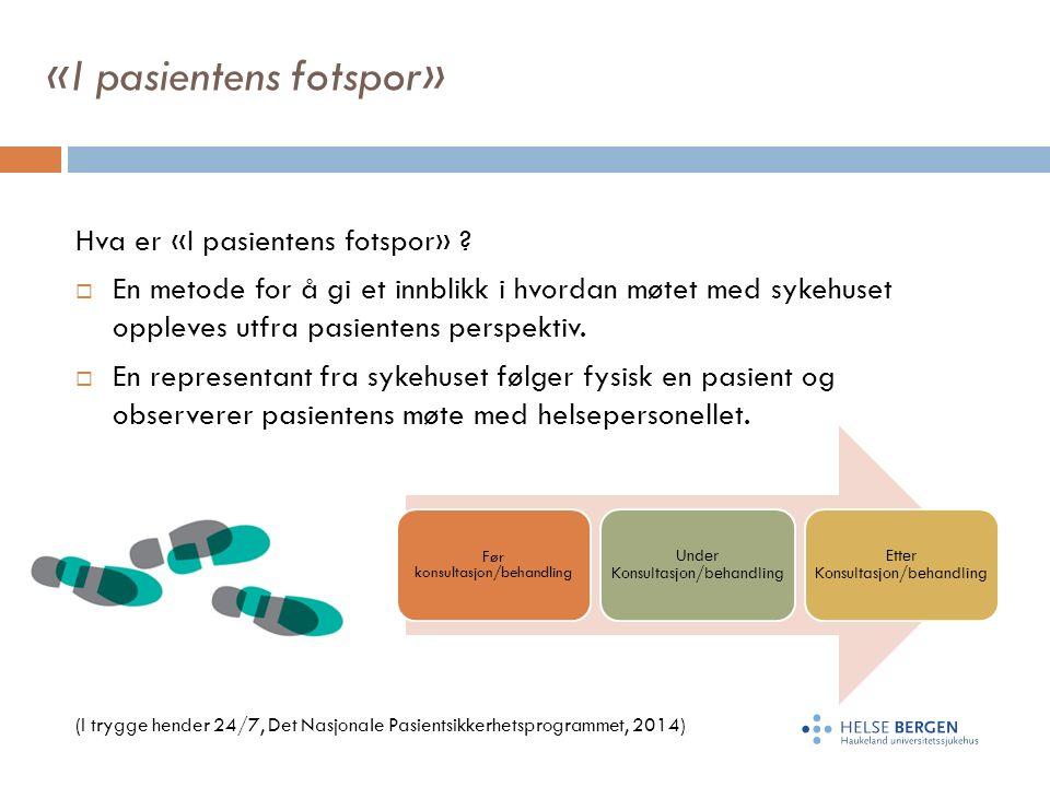 «I pasientens fotspor» Hva er «I pasientens fotspor» .