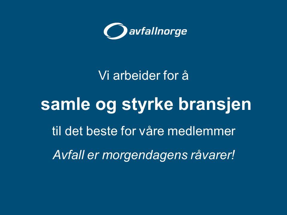 Hva skjer i Avfall Norge akkurat nå.Vi vil ha dine eksempler på Innovasjon.