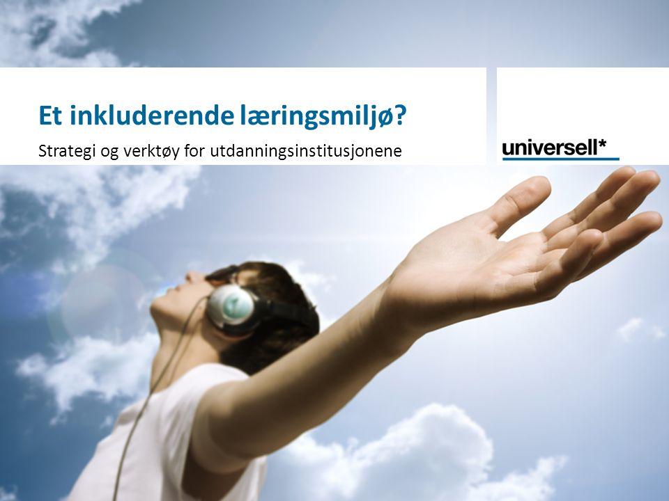 Et inkluderende læringsmiljø? Strategi og verktøy for utdanningsinstitusjonene