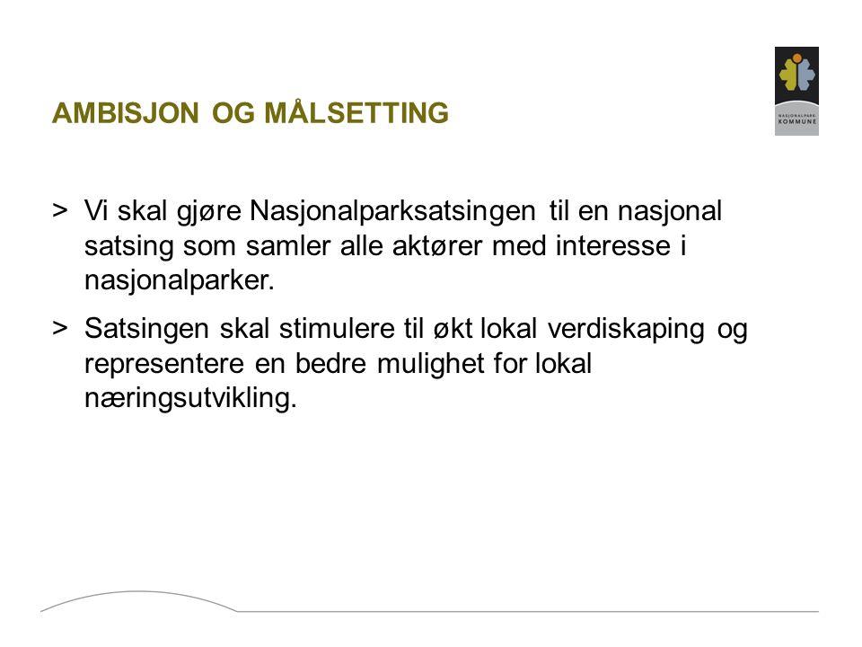 ORGANISERING OG GJENNOMFØRING >Nasjonalparkkommunene kan enkeltvis etablere egne prosjekt som defineres som en del av NPK sin virksomhet.