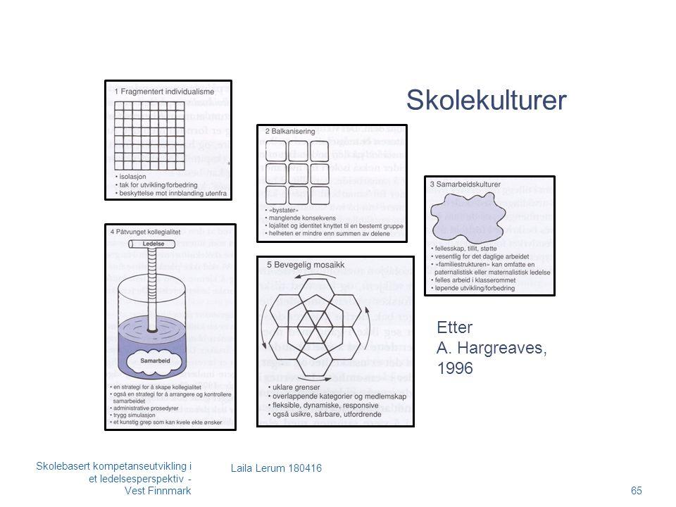 Skolekulturer Laila Lerum 180416 Etter A.