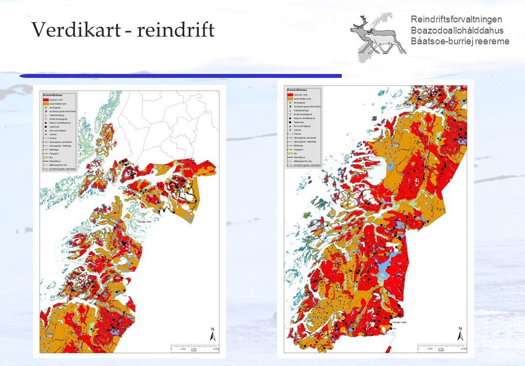 Reindriftsforvaltningen Boazodoallohálddahus Båatsoe-burriej reereme Verdikart - reindrift