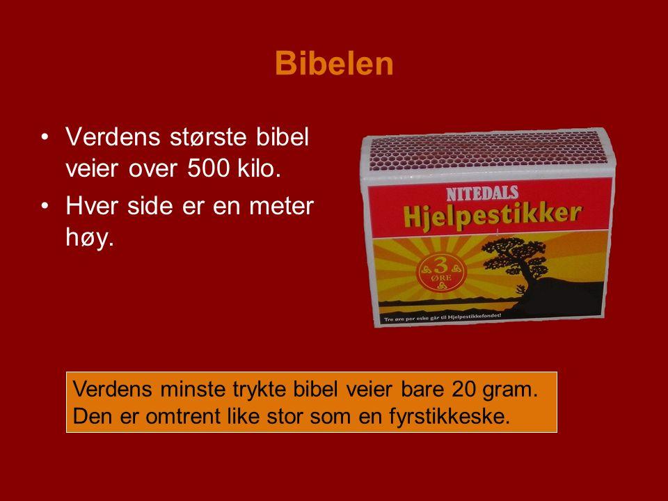 Bibelen Verdens største bibel veier over 500 kilo.