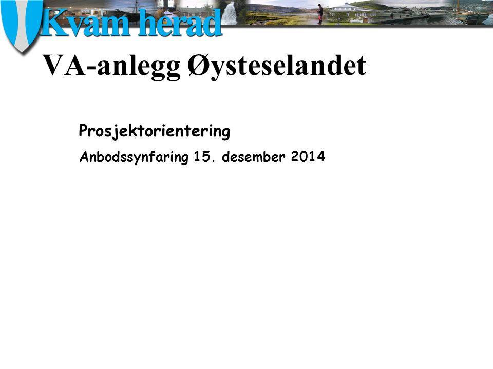 VA-anlegg Øysteselandet Prosjektorientering Anbodssynfaring 15. desember 2014