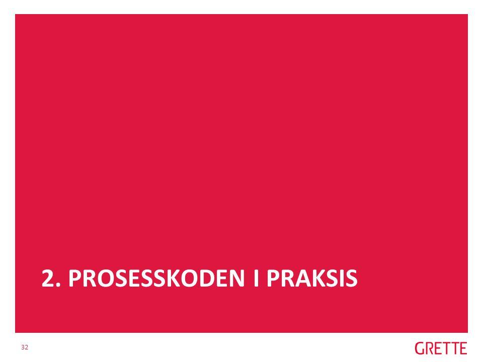 2. PROSESSKODEN I PRAKSIS 32