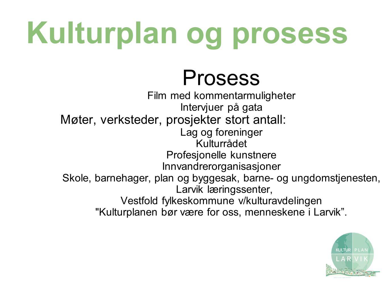 Kulturplan 1.Saksdokumentet – vanlig saksutredning med forslag til vedtak.