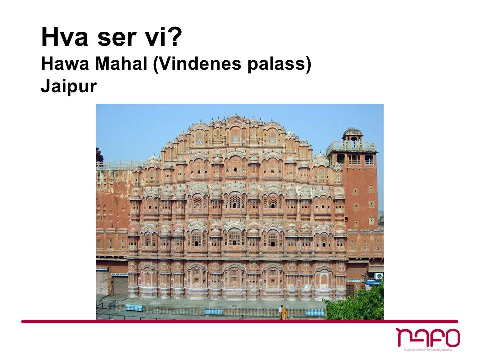 Hva ser vi Hawa Mahal (Vindenes palass) Jaipur