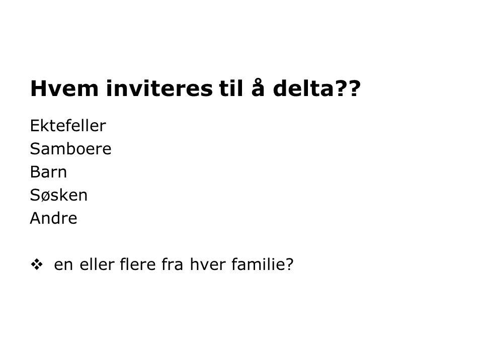 Hvem inviteres til å delta?.