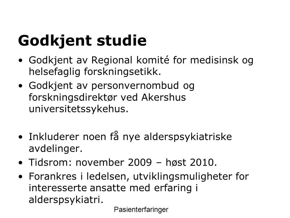 Godkjent studie Godkjent av Regional komité for medisinsk og helsefaglig forskningsetikk.