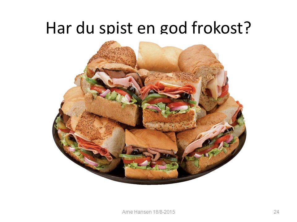 Har du spist en god frokost Arne Hansen 18/8-2015 24