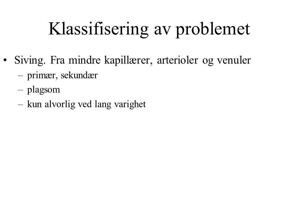 Klassifisering av problemet Siving.