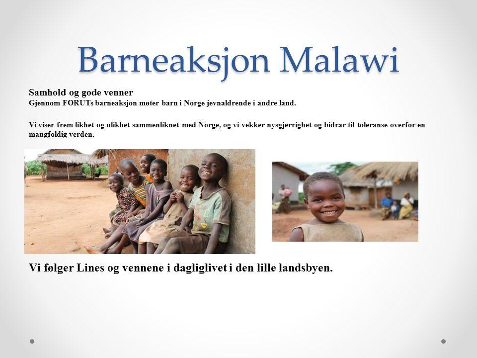 Barneaksjon Malawi Samhold og gode venner Gjennom FORUTs barneaksjon møter barn i Norge jevnaldrende i andre land.