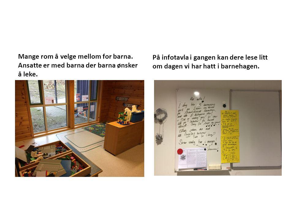 På infotavla i gangen kan dere lese litt om dagen vi har hatt i barnehagen.