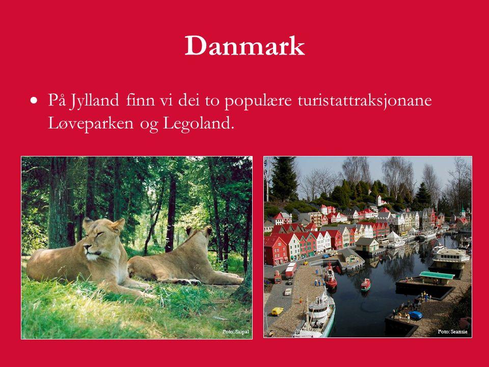 Danmark Danmarks største øy heiter Sjælland.