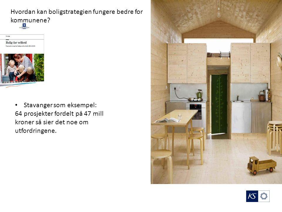 Stavanger som eksempel: 64 prosjekter fordelt på 47 mill kroner så sier det noe om utfordringene.