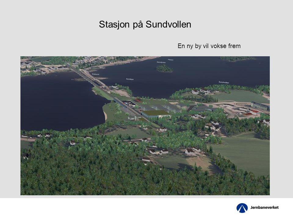 Stasjon på Sundvollen En ny by vil vokse frem