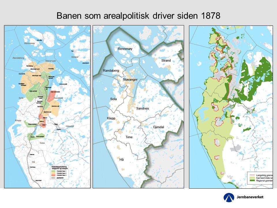 Banen som arealpolitisk driver siden 1878