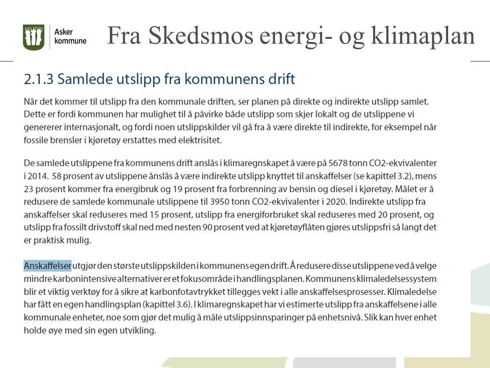 Fra Skedsmos energi- og klimaplan