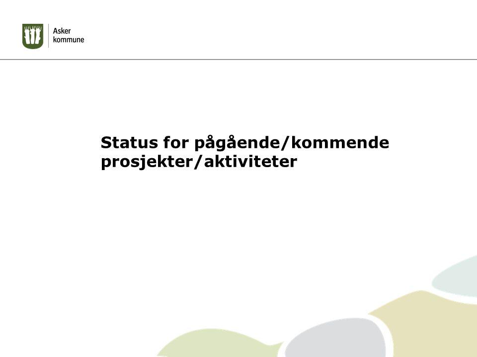 Status for pågående/kommende prosjekter/aktiviteter
