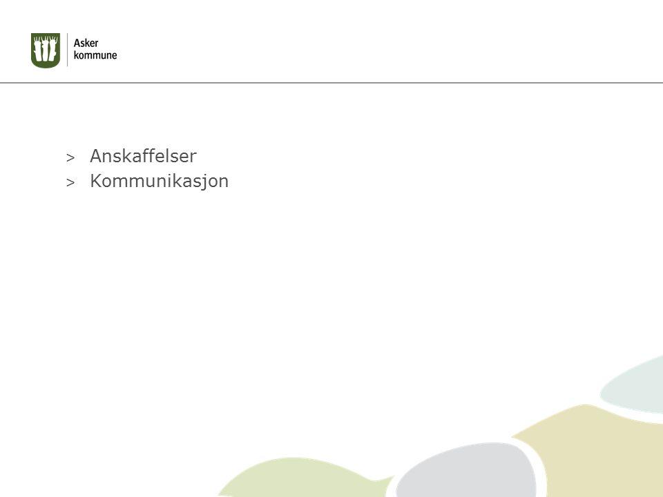 > Anskaffelser > Kommunikasjon