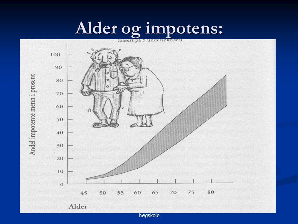 May Aa. Hauken, Betanien diakonale høgskole Alder og impotens: