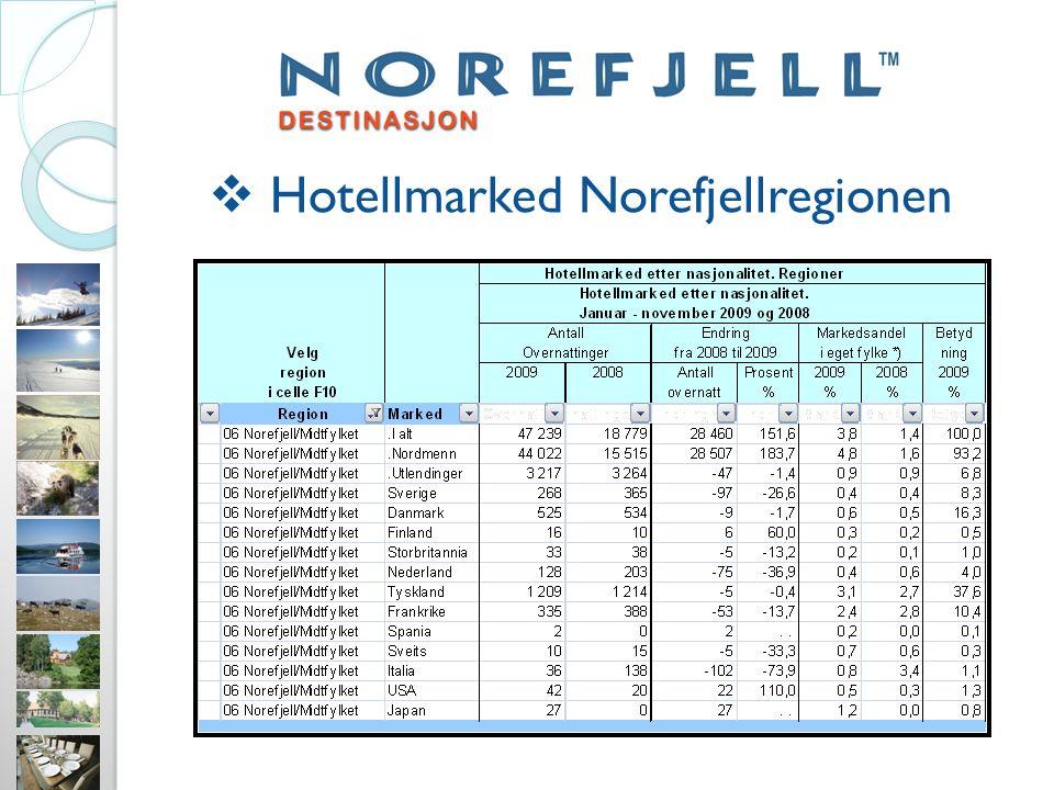  Hotellmarked Norefjellregionen