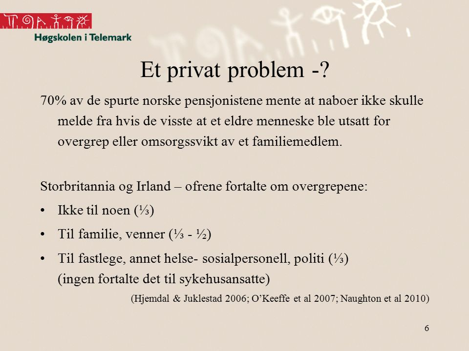 Et privat problem -.