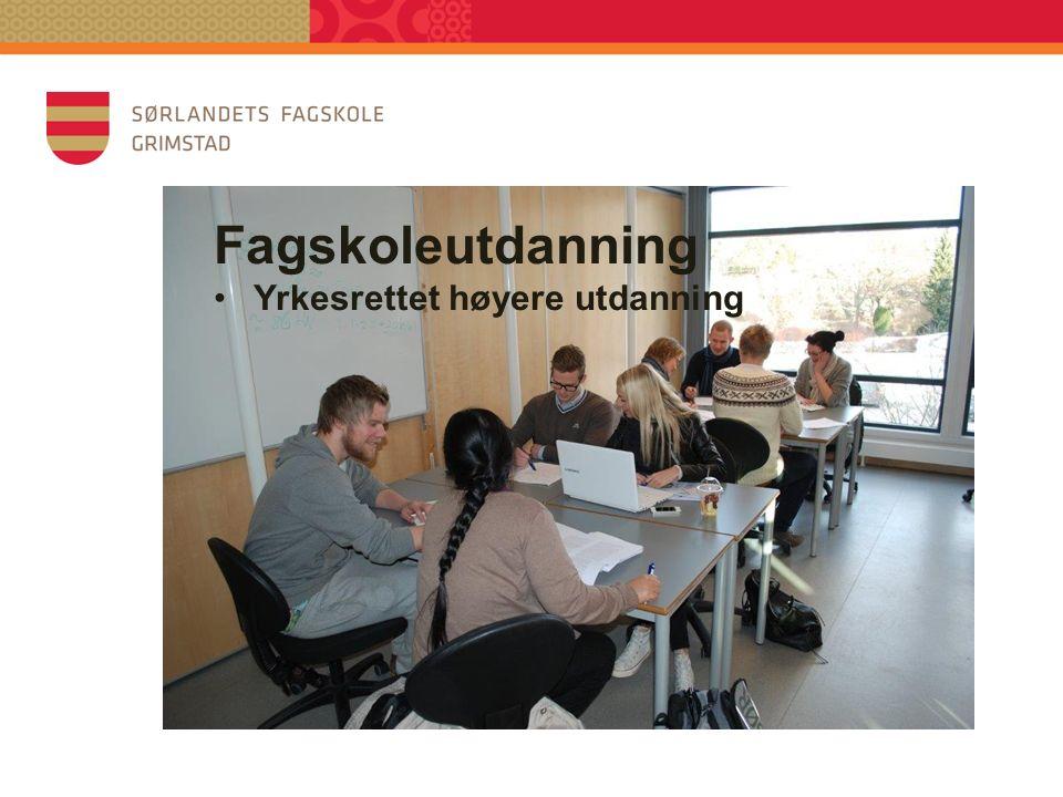 Fagskoleutdanning Yrkesrettet høyere utdanning GENG - 2015