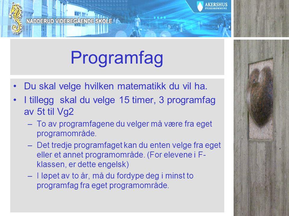 Fagvalg Blokkvalg.no Elevene får mail med brukernavn og passord Mandag 27.januar
