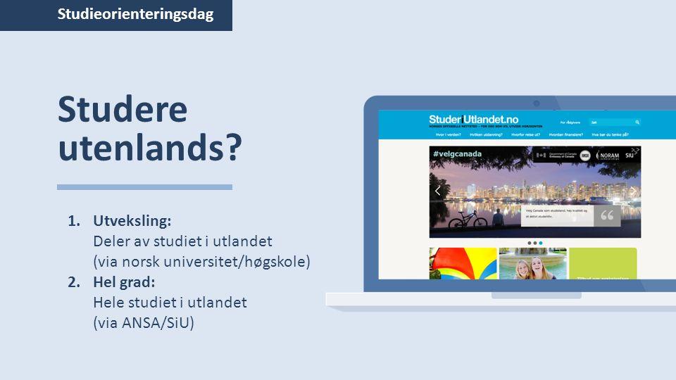 Studieorienteringsdag Studere utenlands.