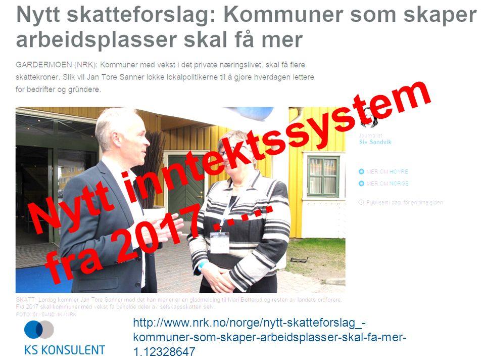 http://www.nrk.no/norge/nytt-skatteforslag_- kommuner-som-skaper-arbeidsplasser-skal-fa-mer- 1.12328647 Nytt inntektssystem fra 2017…..